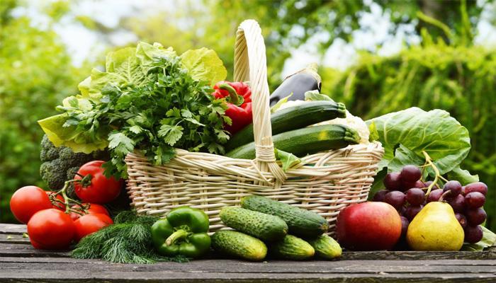 Rau và trái cây cũng cấp cho cơ thể nhiều chất dinh dưỡng có lợi