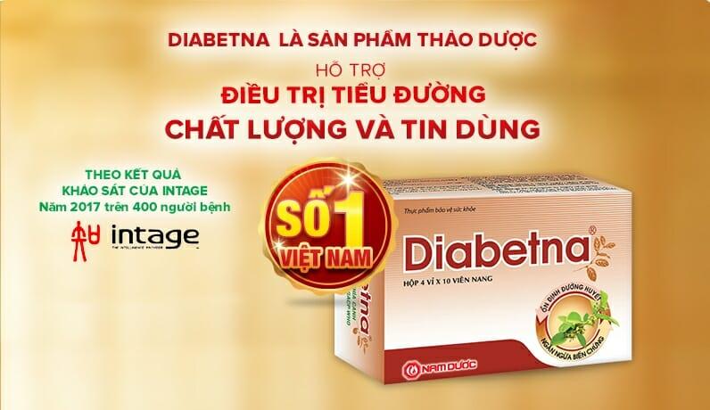 Diabetna là sản phẩm của công ty Nam Dược được chiết xuất từ 100% dây thìa canh chuẩn hóa.