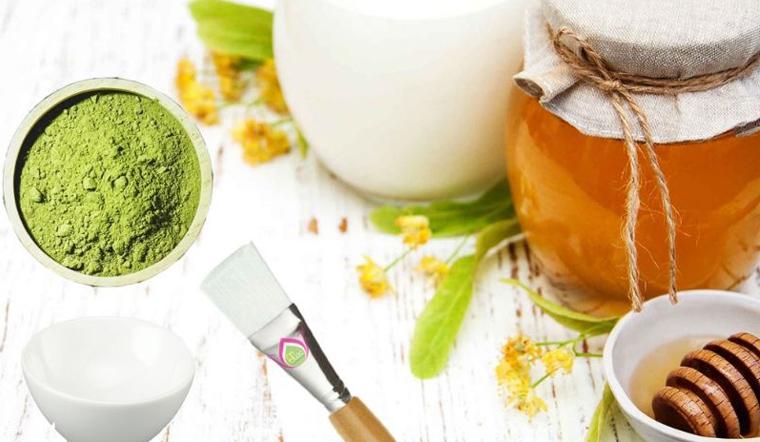 Mật ong và trà xanh giúp trị mụn ẩn dưới da, điều tiết lượng dầu thừa trên mặt