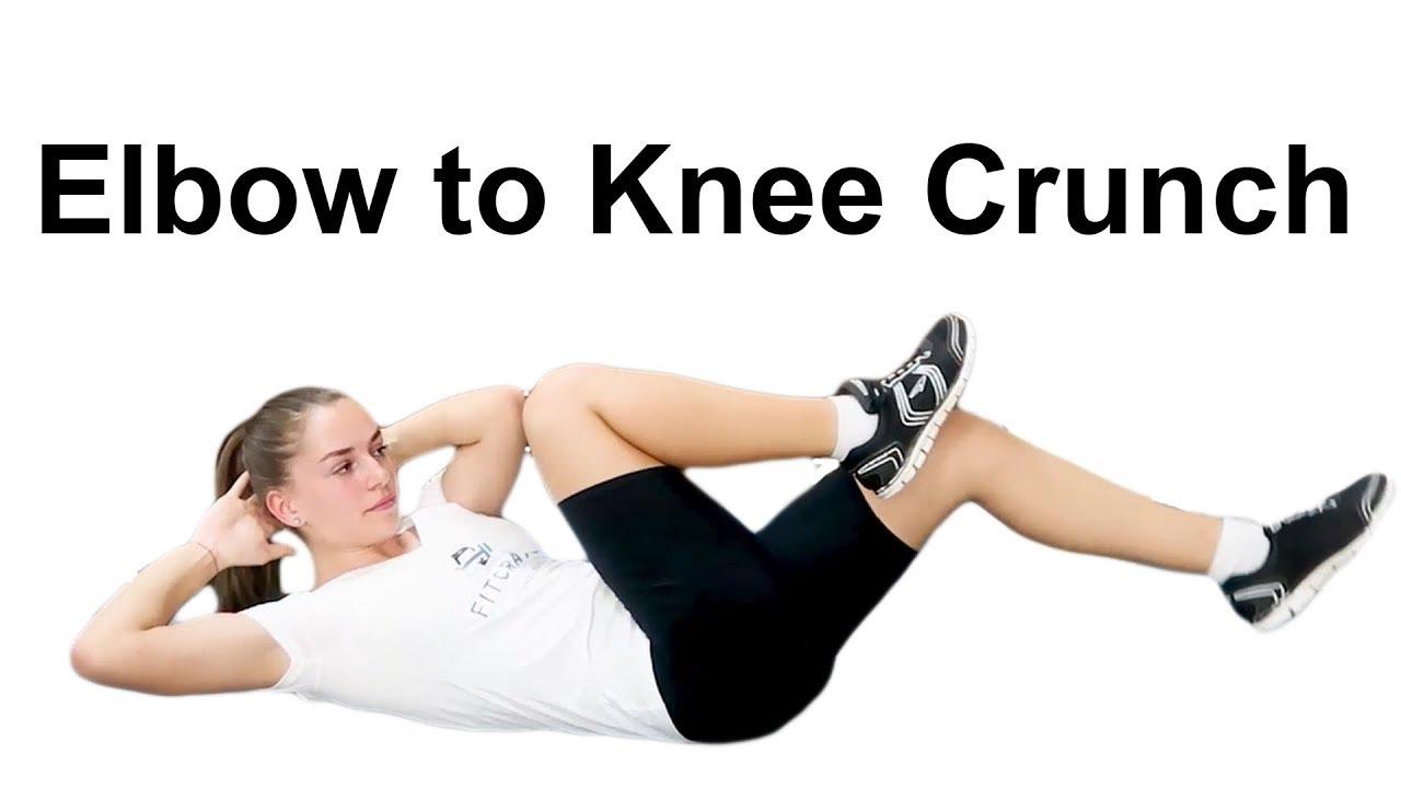 bài tập Elbow to knee Crunch