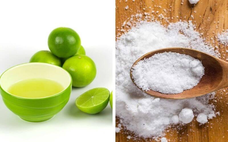 Hỗn hợp muối và chanh được nhiều người lựa chọn để xóa mực xăm