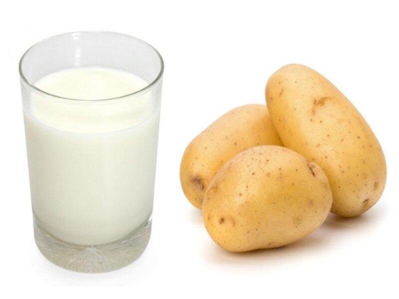 Kết hợp sữa tươi và khoai tây để tối ưu hóa kết quả dưỡng da khô tại nhà