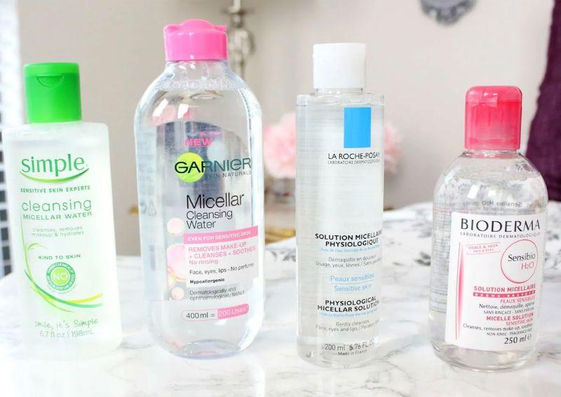Các sản phẩm tẩy trang dạng nước rất phổ biến
