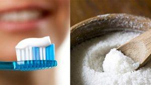 Trị mụn cám cùng kem đánh răng và muối